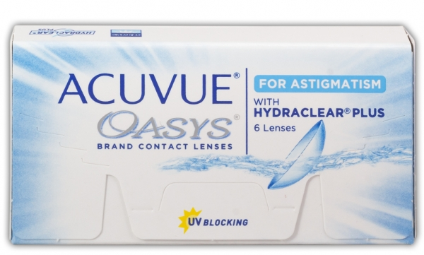 ACUVUE OASYS WITH HYDRACLEAR PLUS FOR ASTIGMATISM (6 ЛИНЗ)