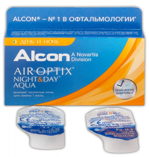 AIR OPTIX NIGHT & DAY AQUA  (1 ЛИНЗА)