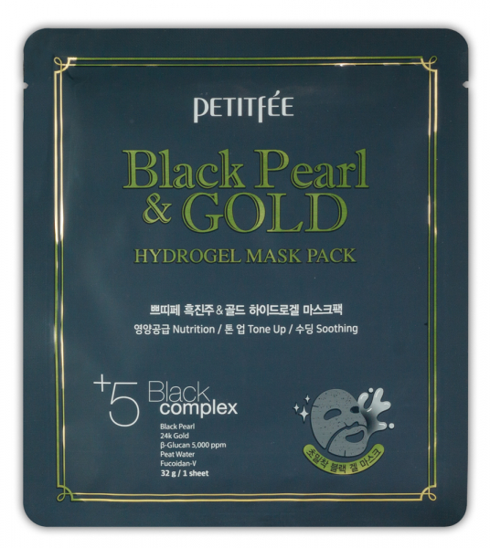 BLACK PEARL & GOLD HYDROGEL MASK